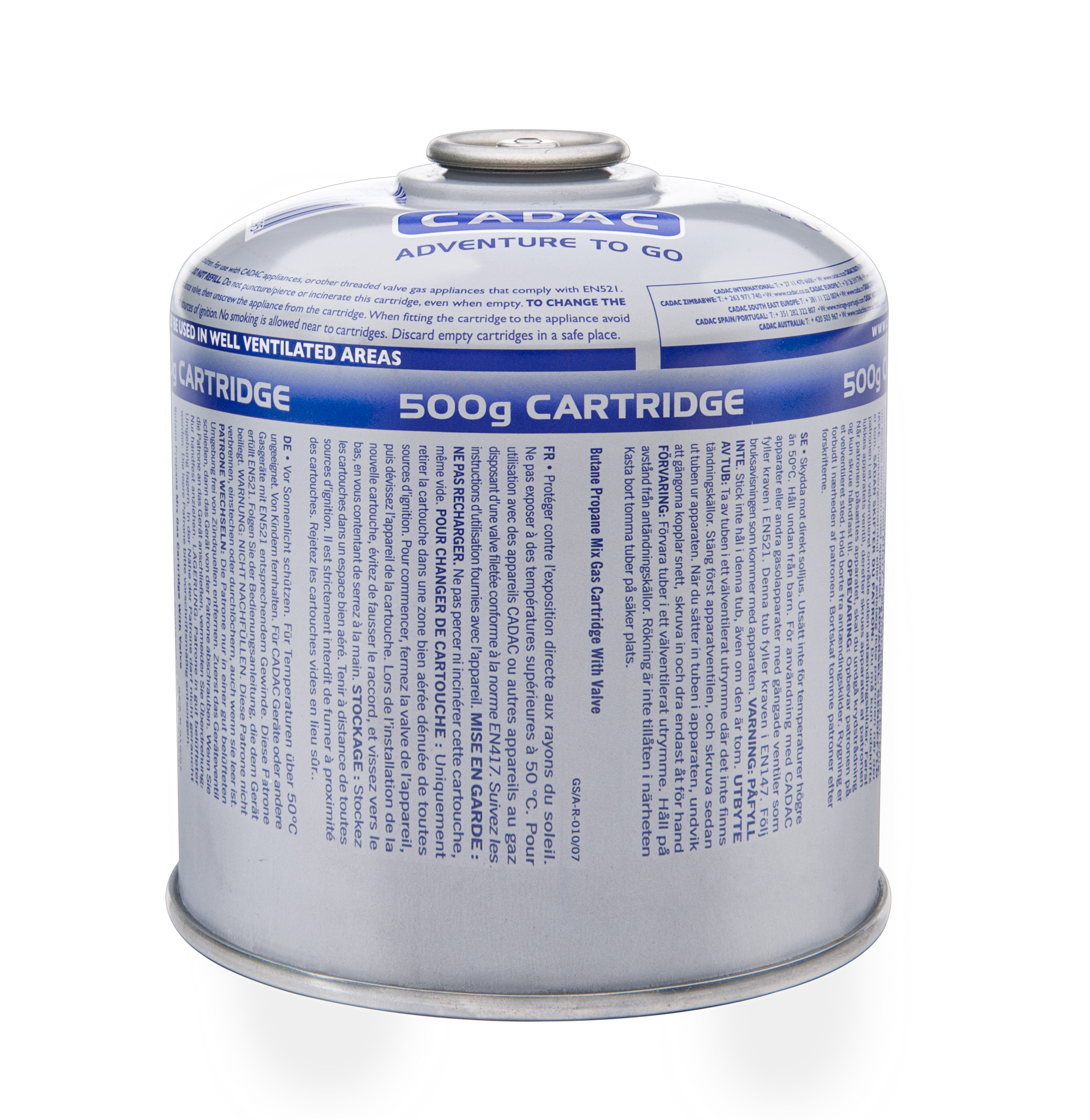 Gascartridge 500 g. EN417